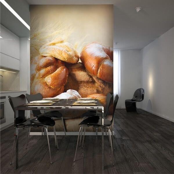 Photo mural blé et croissants