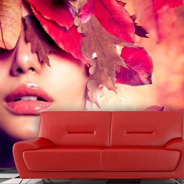 Photo murale visage d'automne