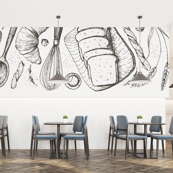 Photo murale illustration pâtisserie