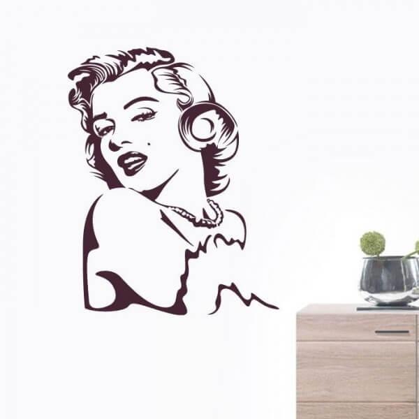 Sticker mural Marilyn Monroe