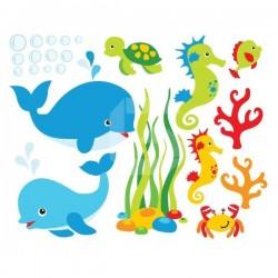 Sticker enfant animaux marins