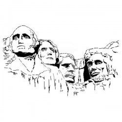 Sticker Colline Rushmores