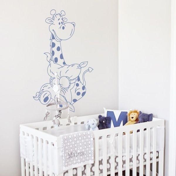 Sticker enfant petite girafe