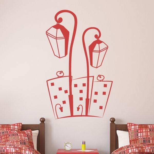Stickers muraux lampadaires