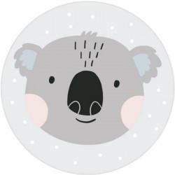 Tapis Vinyle Rond Koala Gris