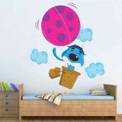 Sticker Mural Enfant Chien en Ballon